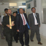 The visit of honorable Health Minister to Enam Medical College & Hospital.